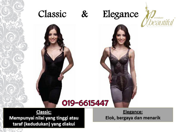 Year End Sales pakaian pembentukan badan Premium Beautiful Classic dan Elegance