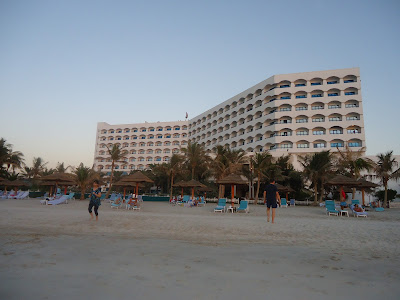 view of Kempinski Hotel from the beach