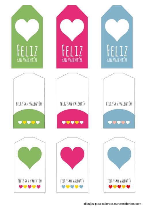 Etiquetas de San Valentín para imprimir ~ Portal de Manualidades
