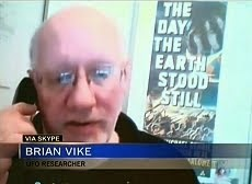 IMAGES FROM THE CTV TV NEWS ON UFOS. INVESTIGATOR BRIAN VIKE.