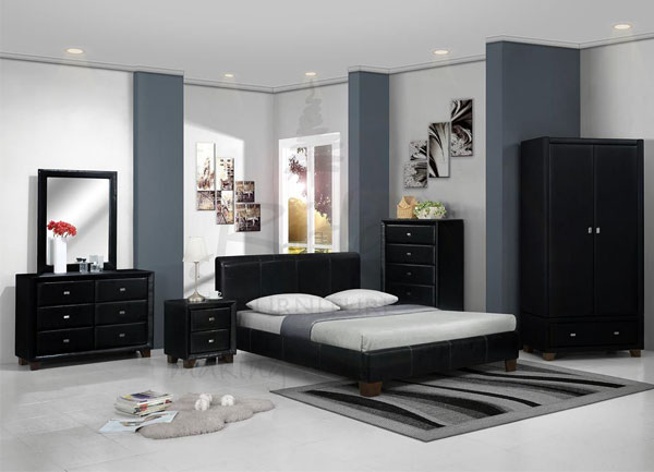 couleur peinture chambre meuble noir id es d co pour maison moderne. Black Bedroom Furniture Sets. Home Design Ideas