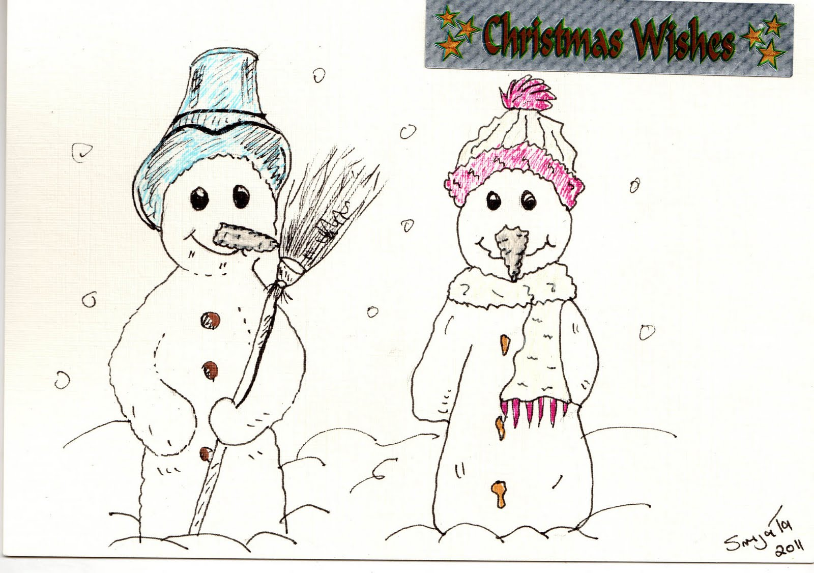 Simple christmas card designs to draw this years christmas cards