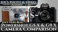 Canon Powershot G5 X & G9 X Camera Comparison | Joe's Video Blog