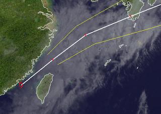 Tropischer Sturm TALIM (CARINA) erreicht Taiwan - Taoyuan Airport Taipei meldet eingeschränkten Flugverkehr, Talim, Carina, aktuell, Fluglinie airline Flug gecancelt, Taiwan, Satellitenbild Satellitenbilder, Radar Doppler Radar, Juni, 2012, Taifunsaison 2012,