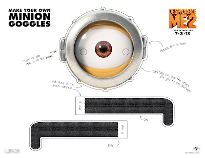 Juicy image throughout minion goggle printable