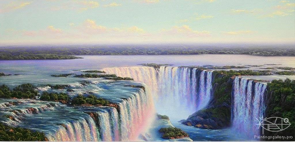 cuadros-de-paisajes-con-cataratas-al-oleo