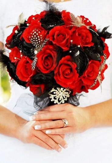 Simply Shani Red And Black December Wedding