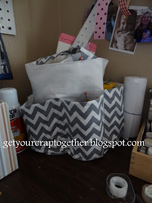 Summer Chevron Beach Tote Bag by GYCT