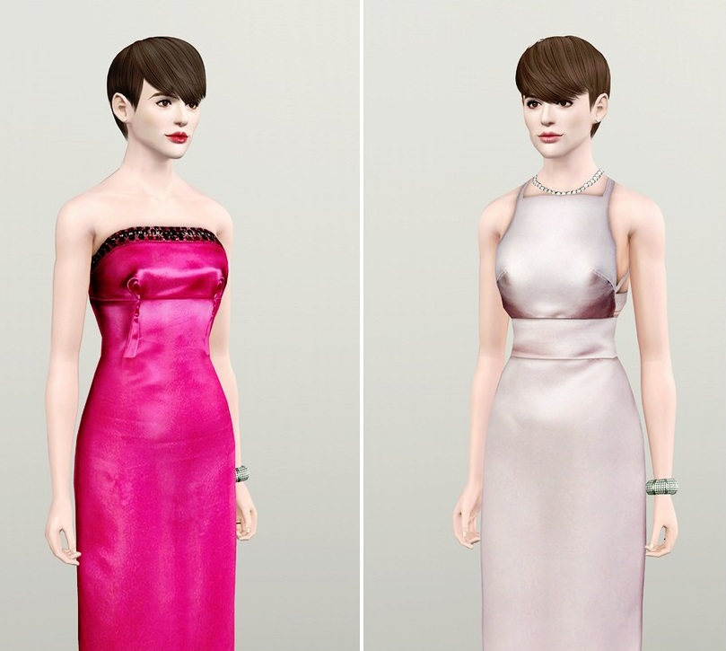 My Sims 3 Blog: Anne Hathaway 2012 Oscars And Les
