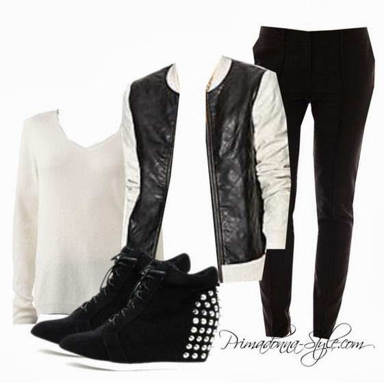 Tinley Road quilted vegan leather bomber jacket croft & barrow cream sweater worthington pintucked ankle pants agraci black alana 6 studded wedge sneakers