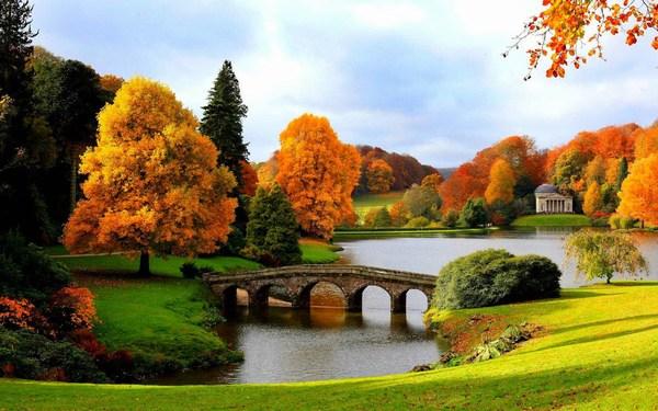 Beautiful Scenery of Lake Bridge Pictures