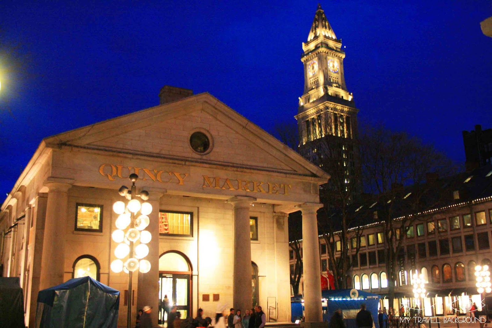 My Travel Background : Quincy Market Boston