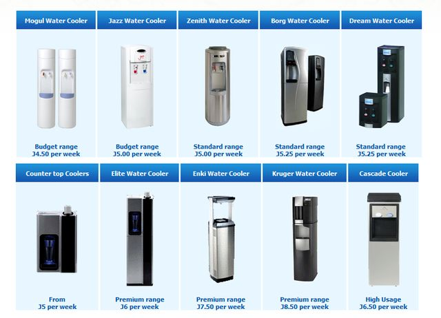 RANGE OF BOTTLELESS FLOORSTANDING WATER COOLERS FOR RENTAL