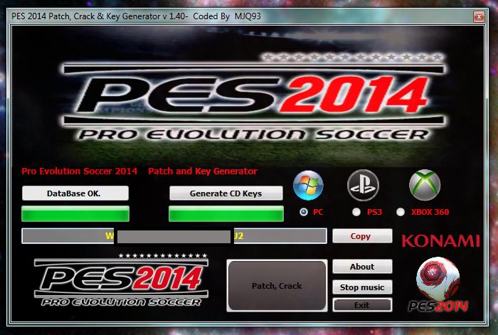 pes 2013 reloaded password