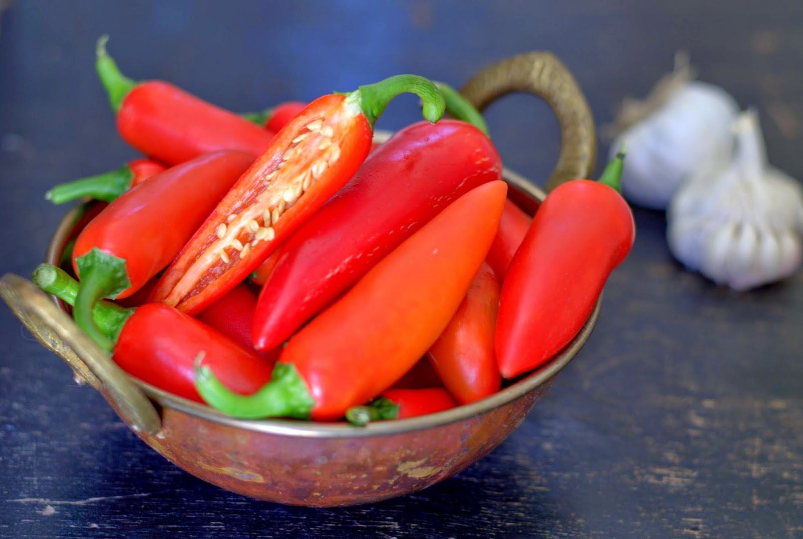 red chilies for my harissa