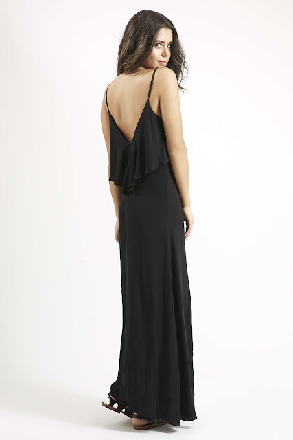 black layered maxi dress, kendall kylie black dress,