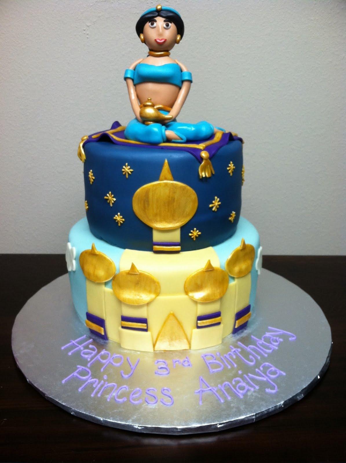 Sweet Melissa s: Princess Anaiya s Jasmine cake
