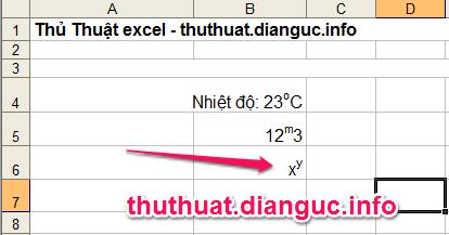 Đánh chỉ số trên, dưới trong Excel như thế nào