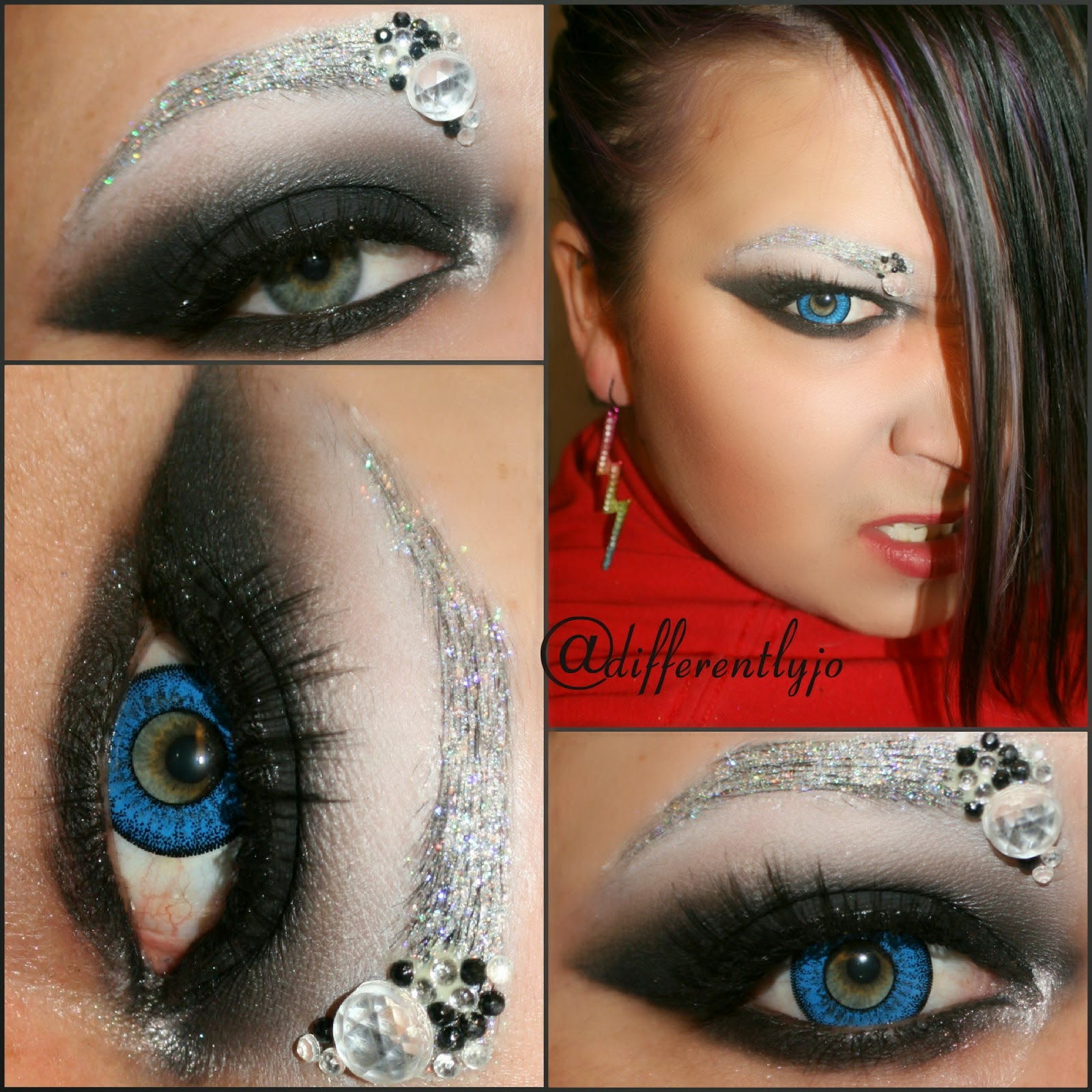 Beuberry Vivid Blue colored contacts