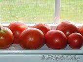 Fresh Tomatoes on the windowsill