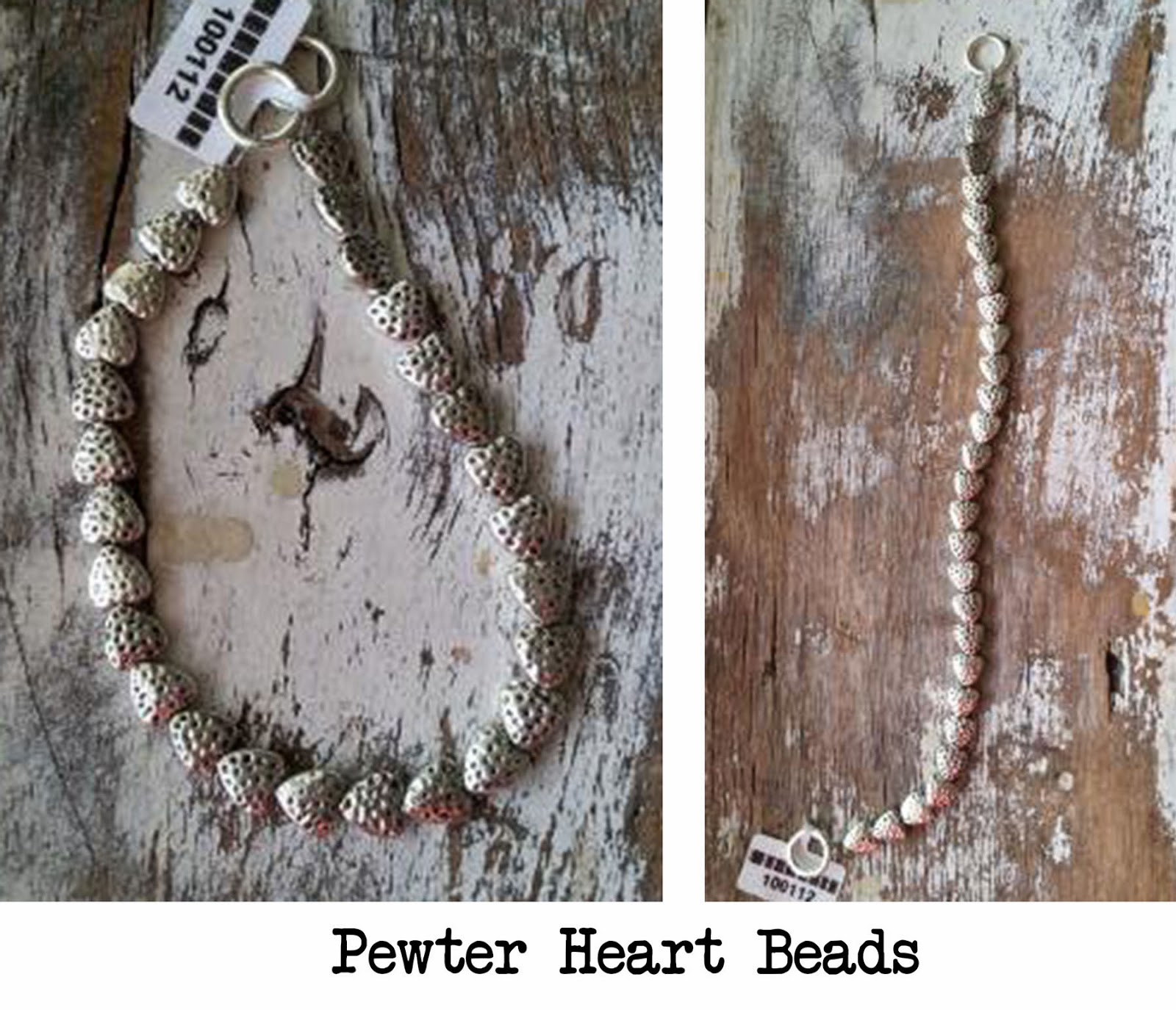 Pewter Heart Beads, DecoArt Metallic Lustre tutorial, Sue Allemand Art.com