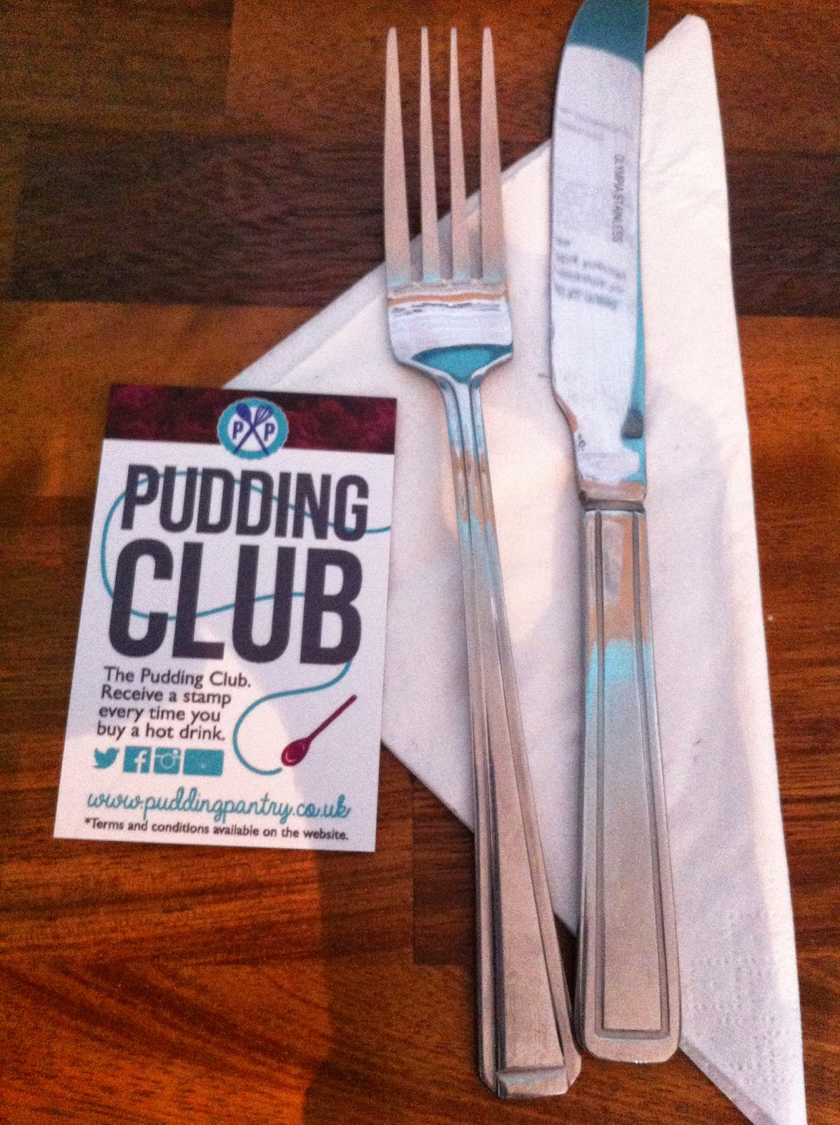 The Pudding Club Business Card