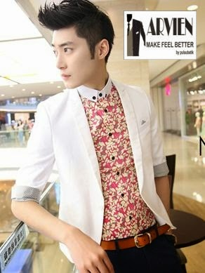 Model baju batik pria ala korea | Harga Fashion Online Trend Terbaru ...