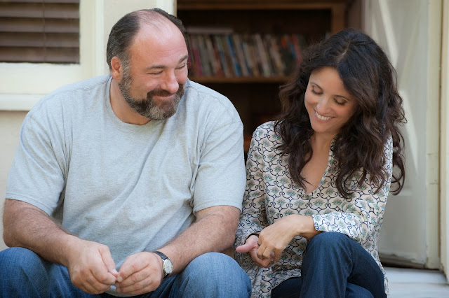 Enough Said movie still - James Gandolfini and Julia Louis-Deyfrus