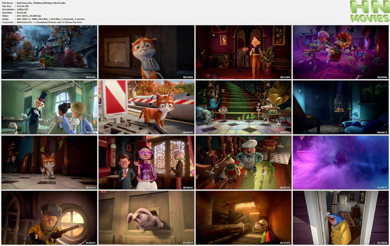 The House Of Magic (2013) BluRay 720p BRRip 575MB