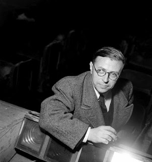 Jean-Paul Sartre with cigarette