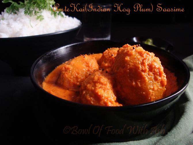 AmteKai Saasime Recipe | How to Make Indian Hog Plums Curry using Coconut