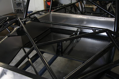 Ultima GTR Race Car Black Tube Frame Roll Bar Cage