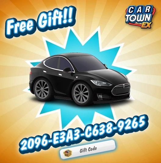 Car Town: Car Town EX Free Gift Tesla modelo S 2013