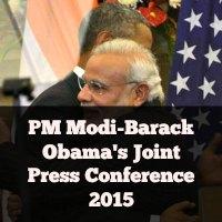 PM Modi-Barack Obama's Joint Press Conference 2015