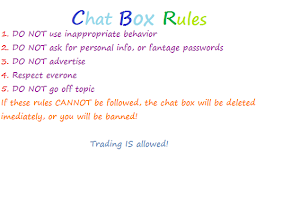 Chat Box Rules