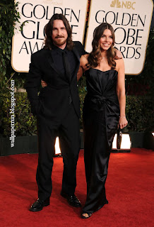 Actor Christian Bale and wife Sibi Bale arrive