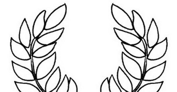 Hojas de Olivo para colorear ~ 4 Dibujo