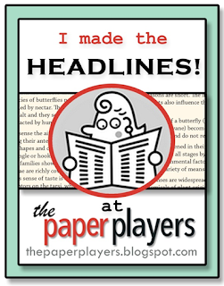 Headliner at The Paper Players  November 2015