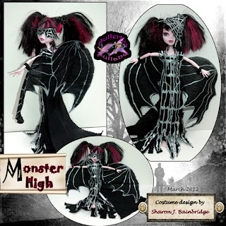 Butterfly lullaby sharon j bainbridge draculaura monster high doll bat dress wings and mask - Masque monster high ...