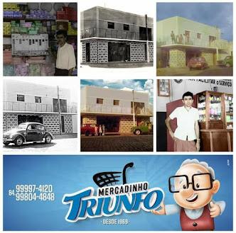 """Mercadinho Triunfo """"50 anos de tradição"""" Preço baixo é aqui! em Campo Grande, RN"""