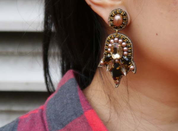 LOFT Collection Pearlized Gem Earrings by Suzanna Dai