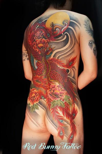 刺青 鳳凰 牡丹