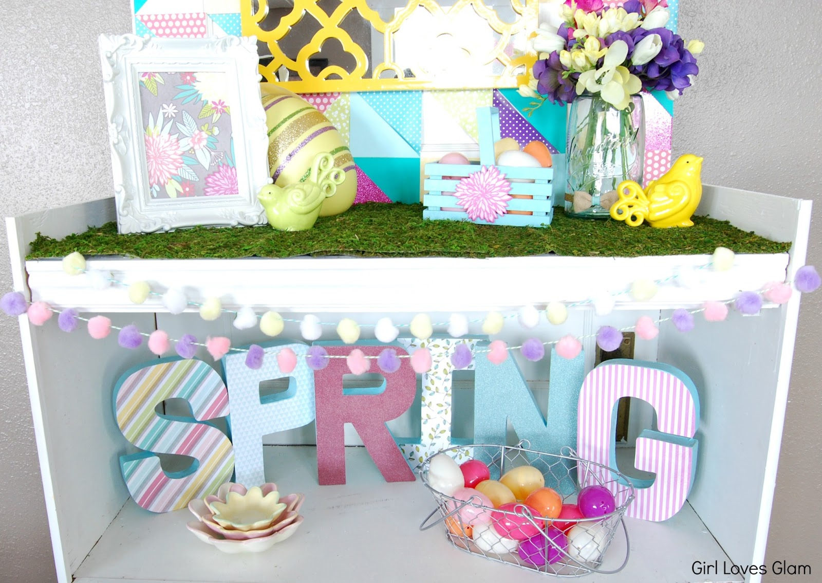 Springster decor spring easter decor and tutorial for How to make easter decorations for the home