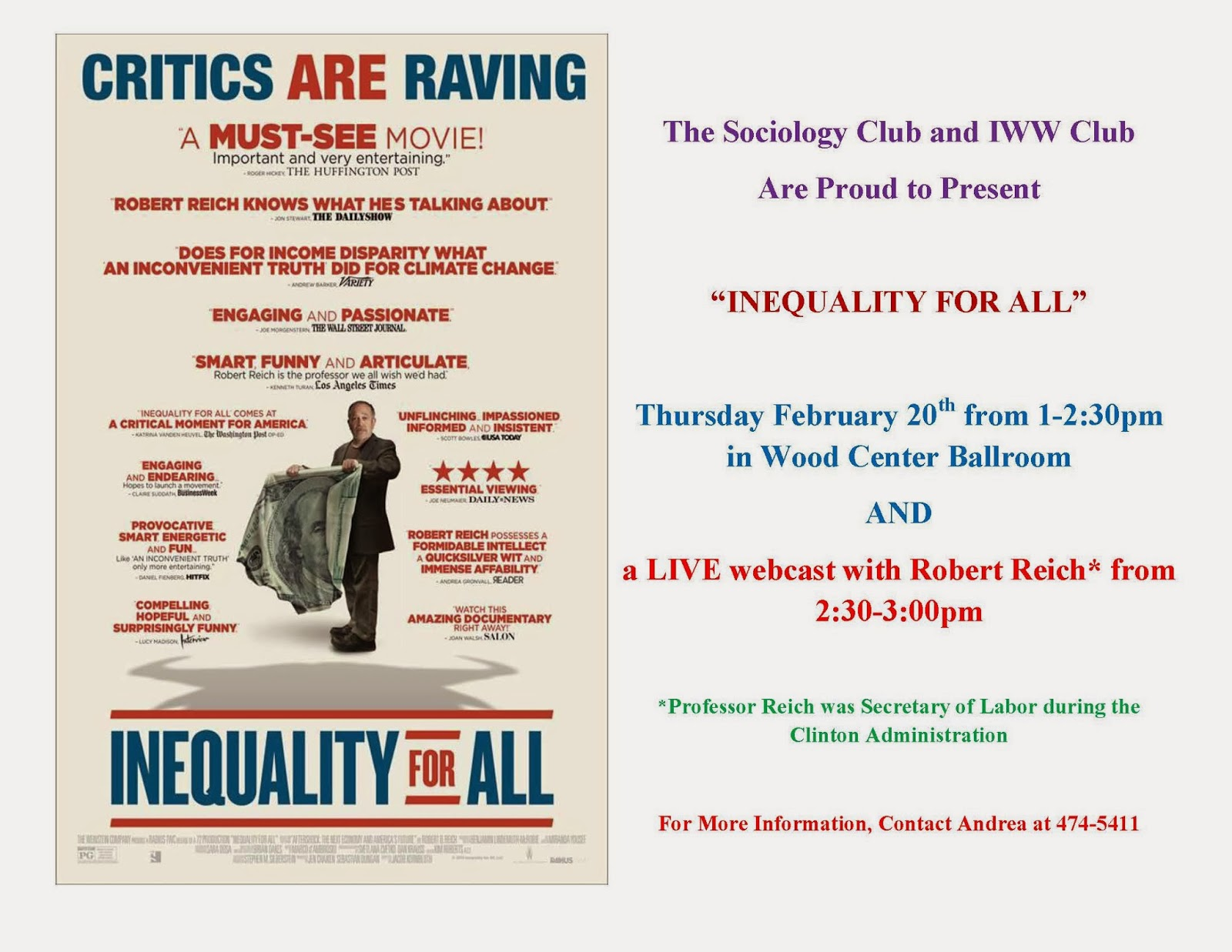 a critique of inequality for all a film by j kornbluth Movie review inequality for all former us labor secretary robert reich, narrator and subject of jacob kornbluth's documentary inequality for all.