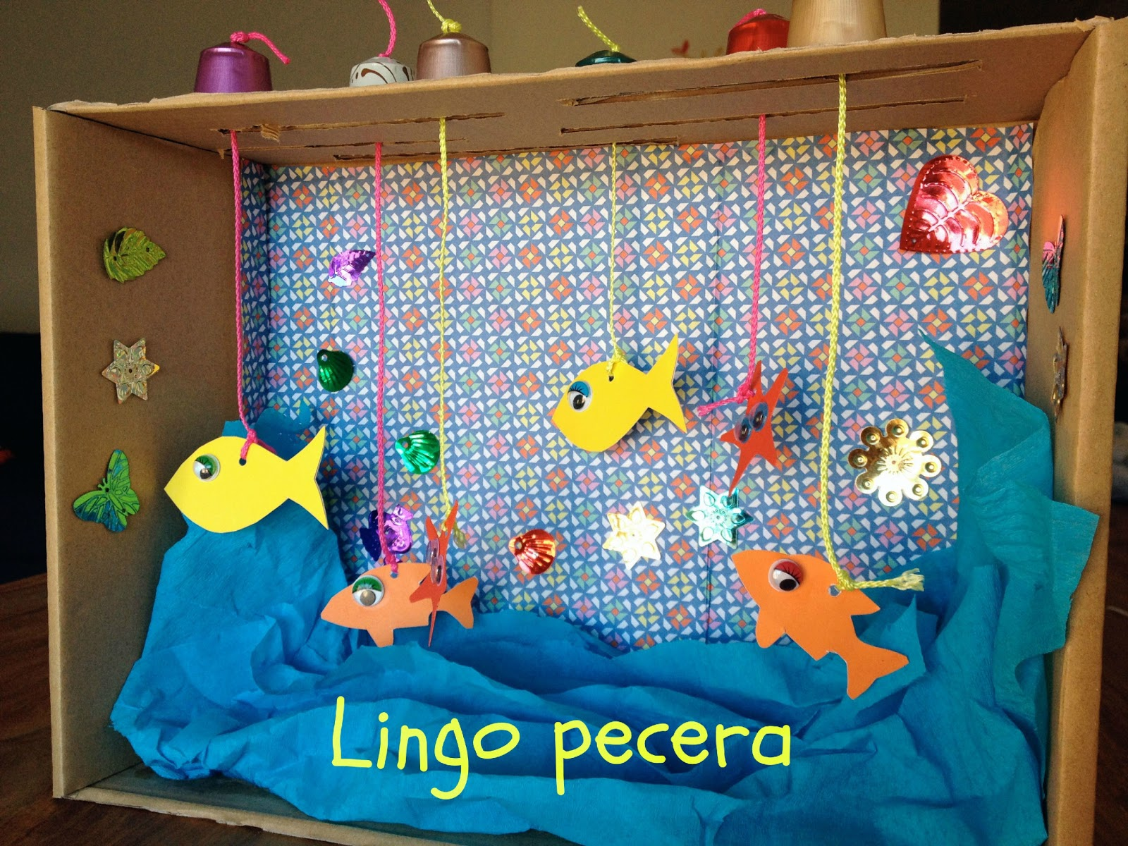 Lingosworld lingo tutorial pecera reciclada for Caja de colores jardin infantil
