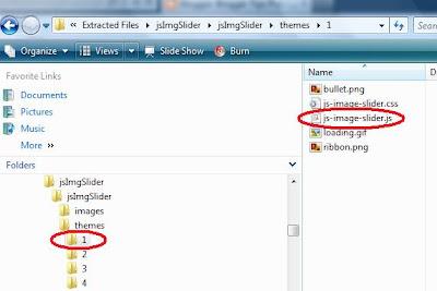 Blogger image slider javascript file
