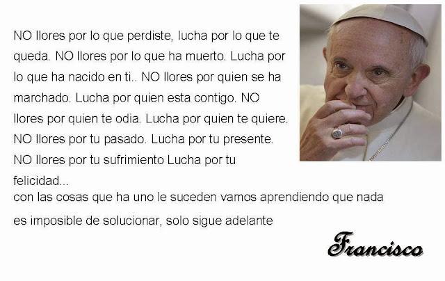 Mensaje positivo del Papa Francisco