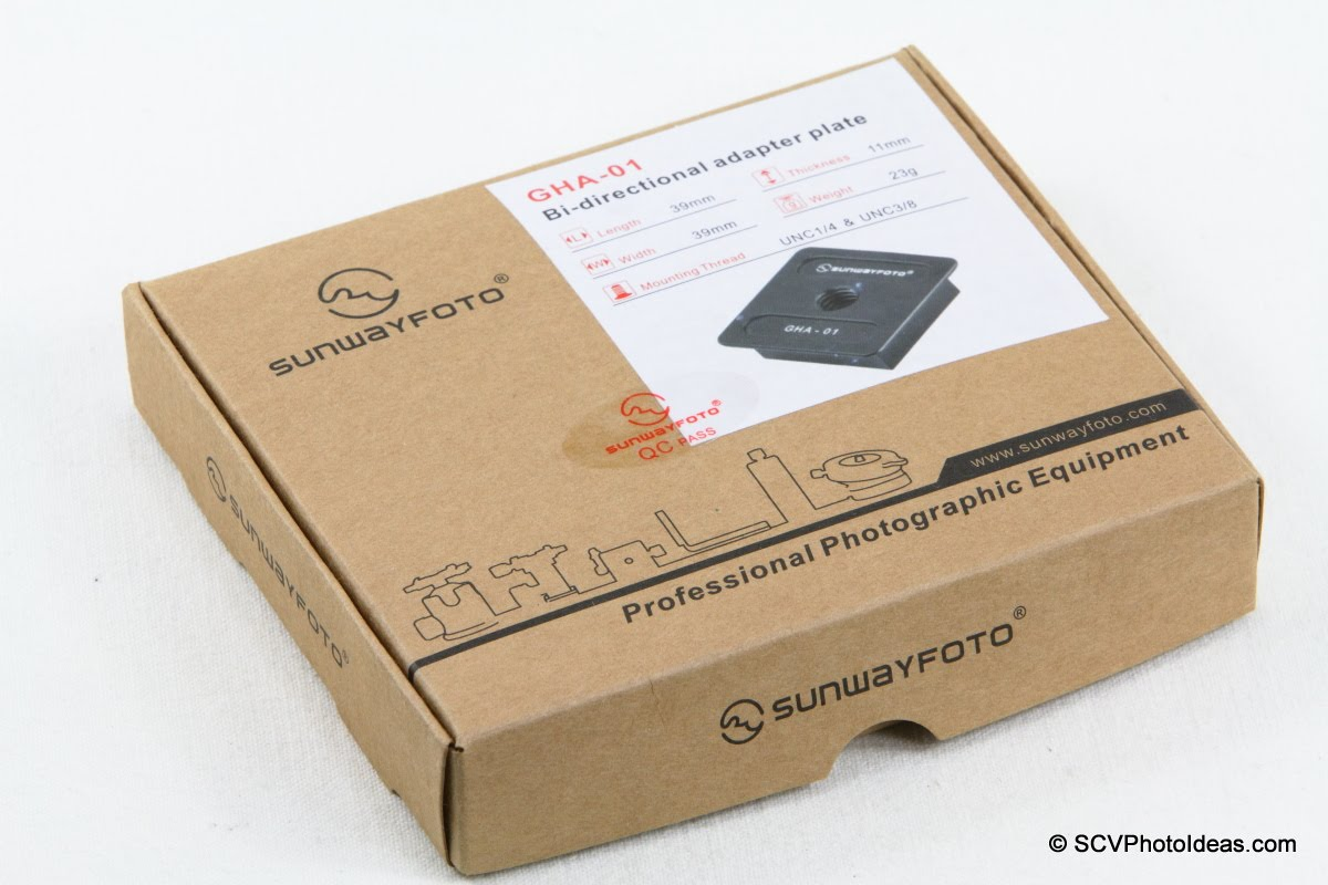 Sunwayfoto GHA-01 Bi-directional Adapter Plate box
