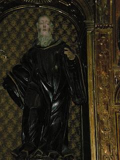 Imagen barroca del altar de San Íñigo en la iglesia de San Pedro de los Francos de Calatayud. Anteriormente en la iglesia de San Benito de la misma ciudad