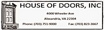 House of Doors - Alexandria, VA - Logo